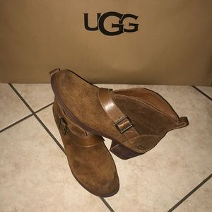 Women's UGG WRIGHT DISTRESSED BOOTIES #8
